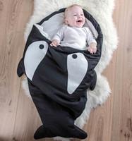 Wholesale Hot Sale Cute Cartoon Shark Baby Sleeping Bag Winter Baby Sleeping Sack Warm Baby Blanket Warm Swaddle