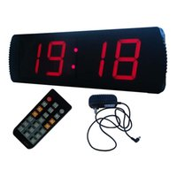 Wholesale GODRELISH Large Inch Digit LED Red Digital Clock Race Timing Running Marathon Timer with Count Down Up Timer