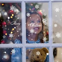 bedroom window decor - Removable Christmas Snowflake Shop Window Wall Stickers Vinyl Decal Business Decor Mural New Year Decoration
