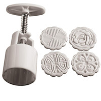 abs plastic molds - Flowers Round Shape ABS Plastic Cake Mold Chocolate Fondant Mooncake Bakeware Baking Molds Stamps DIY Cake Molds Mould