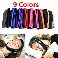 Wholesale 1000pcs Colors Anti Snore Chin Strap Stop Snoring Chin Strap Snore Belt Anti Apnea Jaw Solution Sleep Support