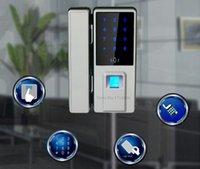 alarm fingerprint - Top Biometric Fingerprint Door Lock Digital Fingerprint Password Key Lock Home Office Security Electronic Door Lock Alarm Audio