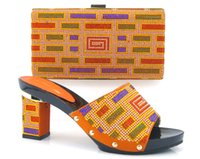 africa express - Simple pattern Colorful Africa lady shining stone Shoes and Matching hand Bags Speed Express by DHL