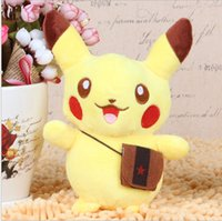 Wholesale 2016 School bag Pikachu Plush toys doll Grasp the machine doll suitable to children toys gift