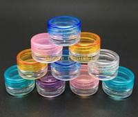 Wholesale 500pcs g g Colorful Cosmetic Empty Jar Pot Makeup Face Cream Container Bottle Nail Art Powder Storage Box case