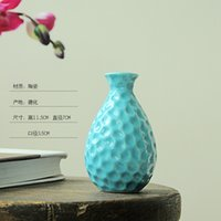 Wholesale New Type of Glazed Ceramic Home Decoration Vase Dolomite Tabletop Flower Pot With Various Color And Different Shapes Table Ware