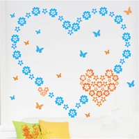 Wholesale Cheaper Wall Stickers - Colorful Flower Wall Blackboard Sticker PVC Material Removable Decorative Wall Stickers Childrens Room Decor Cheap Decal Online