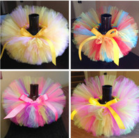 Wholesale HOT candy color kids Baby tutus skirt With Bowknot dance dresses Ballet skirt Party Skirt Bubble skirt Kint by hand Christmas gift pc