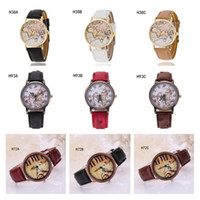 belt with a buckle - Geneva world map Piano notes pattern watch Quartz wrist watches the anti fatigue watch strap watch pieces a mixed style GTPH56
