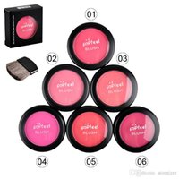 Wholesale Hot Sale Popfeel Cosmetic Blush Makeup Face Powder Blush Cake Plus Compact Face Blusher with Brush and Compact Mirror g