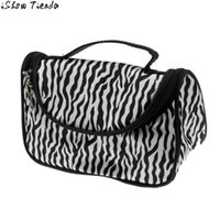 aluminum ingots - Makeup Case Ingot Shape Pochette Maquillage Zebra Pattern Bag Cosmetics Bag Makeup Sac Cosmetique