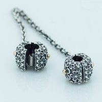 Wholesale 2016 BOUQUET SAFETY CHAIN Sterling Silver Bead Fit Pandora Fashion Jewelry DIY Charm Brand