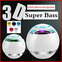 ball speakers - Mini Portable Wireless Bluetooth Speakers Ball GS009 Stereo Hi Fi Music Speaker Support Handsfree TF Card FM Radio VS BT YST Speaker