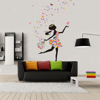 Wholesale S5Q DIY Decorative Girl Butterfly Wall Sticker Removable Wallpaper For Home Decor AAAFUT