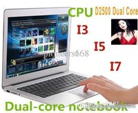 Wholesale DHL FREE CHEAP inch Ultrabook Laptop Gaming Computer Notebook Wind Intel Atom D2500 Ghz GB RAM GB ROM