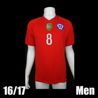Wholesale 16 Top Quality Chile Copa America Home Soccer Jerseys Football Shirt Soccer Jersey Thai Quality