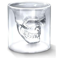 Wholesale New Crystal Skull Head Vodka Shot Glass Drinking Ware for Home Bar