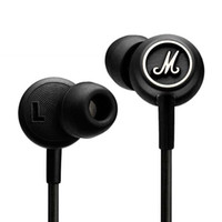Cheap 2016 Marshall MODE Headphones In Ear Headset Black Earphones With Mic HiFi Ear Buds Headphones Universal For Mobile Phones