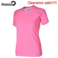 Wholesale Clearance sale Summer women Quick Dry T Shirts Coolmax Breathable Fast dry Hiking cycling Tee Candy color