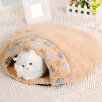 Wholesale Cat Dog Puppy Sleeping Bag Winter Warm Snuggle Sack Pet Bed House Cave Pouch Mat L