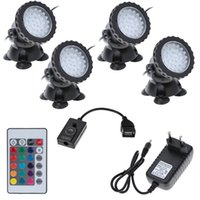 Wholesale Underwater LEDs W V Waterproof IP68 Submersible Light Spot Light for Aquarium Garden Pond Pool Fountain Tank