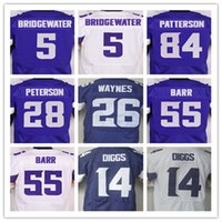 Wholesale Mens Teddy Bridgewater Stefon Diggs Adrian Peterson Trae Waynes Anthony Barr Cordarrelle Patterson elite jersey