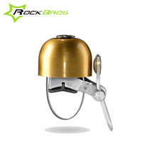 Wholesale ROCKBROS Classical Stainless Bell Cycling Horns Bike Handlebar Bell Horn Crisp Sound Bike Horn Safety Bicycle Accessories