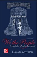 american authors - We The People An Introduction to American Governmen th Edition by Thomas E Patterson Author
