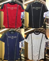 Wholesale Casual Cotton Balmain Men T Shirts Male Tops Tees Robin T Shirt Homme Paris Balmai Short Sleeve T Shirt Men s T Shirts Balmain Clothe