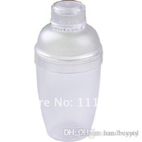 Wholesale 2012 New Plastic Cocktail Shaker Bottle ML Plastic Cocktail Shaker Plastic Set DHL xx