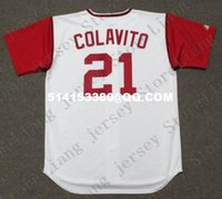 Wholesale Deluxe Edition ROCKY COLAVITO Majestic Cooperstown Home Baseball Jersey White Stitched Baseball Jerseys