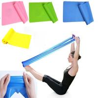 Wholesale PC Elastic GYM Yoga Pilates Rubber Stretch Band Strap Resistance Exercise Fitness Bands Random Color m x cm