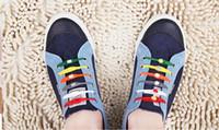 base leather shoes - Authentic colored shoelace sports shoes lace flat white luminous fluorescent silica based lazy shoe buckle Free Men Women