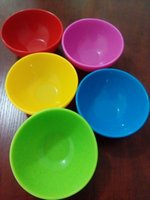 Wholesale Kitchen food grade silicone bowl dinnerware bowl Large size Anti fall deformation bowl diameter cm and cm single bowl