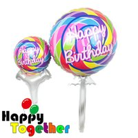 big lollipop candy - SMILE MARKET New Party Decoration Colorful Big Size Birthday Gifts Candy Lollipops Inflatable Foil Balloon