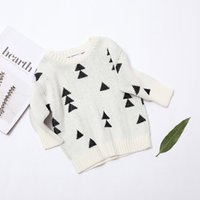 Wholesale Christmas Pine Trees quot Woods quot Jumper White Bobo Choses Cotton Long Sleeved Knits Sweater Toddler Girl Pullover Fashion Clothing