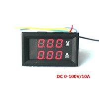 Wholesale DC V A Red LED Voltmeter Ammeter DC V A Red LED Panel Amp Dual Digital Volt Meter Gauge