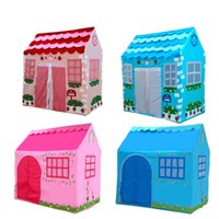 Wholesale Indoor outdoor catoon colorful cloth castle House tent child park picnic holiday game play tent baby toy gift Play house toys