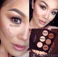 Wholesale Ana Contour Kit Palette Powder Contour Cream Kit Light to Medium Tan Makeup Face Powder ABH Foundation Makeup Bronzers Highlighters