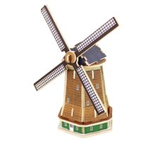 Wholesale Creative Assemble Puzzle Toys Child Early Education Wooden D Puzzle Building Dutch Windmills