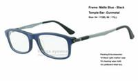 astigmatism optics - Designer brand new acetate optic eye glasses Live style Matte Blue Black frame for astigmatism hyperopia myopia size Brazil