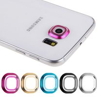 Wholesale New Style Colors Camera Lens Metal protective Ring Guard Cover For Samsung Galaxy S6 Edge Lens Protector Ring