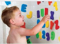 alphanumeric numbers - LJJK332 Water Playing Bath Alphanumeric Posted Child Bath baby toys New Letters Number Kids Educational Toy Can Stick Wall