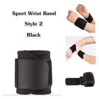 Wholesale 100pcs Sports Wrist Band New Sport Gym Adjustable Stretchy Protective Wrist Brace Wrap One Color Black Available