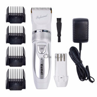 Wholesale Titanium Blade Kemei Professional Hair Trimmer Electric Hair Clipper Cutting Machine Shearer V V Extra Battery