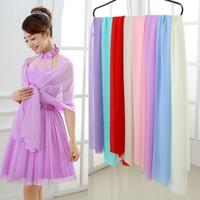 Wholesale Lace Ruffle Scarf - Bridal Wraps Chiffon Colorful Bolero 2016 New On Sale bolero mariage bolero Jackets for Evening Dresses Bridesmaid Girls Scarf