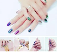 Wholesale 2016 Newest Hot g Mirror Chrome Refective Nail Powder Metallic Nail Polish Effect Glitter Shinning Pigment with Brush Tools Nail Art