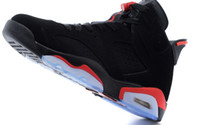 Wholesale COOL Famous Trainers Retro VI Men s Sports Basketball Shoes White Carmine Black Size