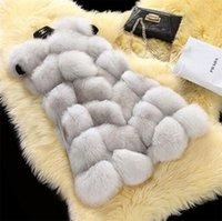 Wholesale 2016 new Korean Leather grass coat fox fur vest and long sections fur coat splicing vest Women B0013
