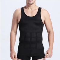 belts outlet - Black White Male Waist Cinchers Outlet Camiseta New Chest Corset Factory Homme Modeladora Shapers Belt